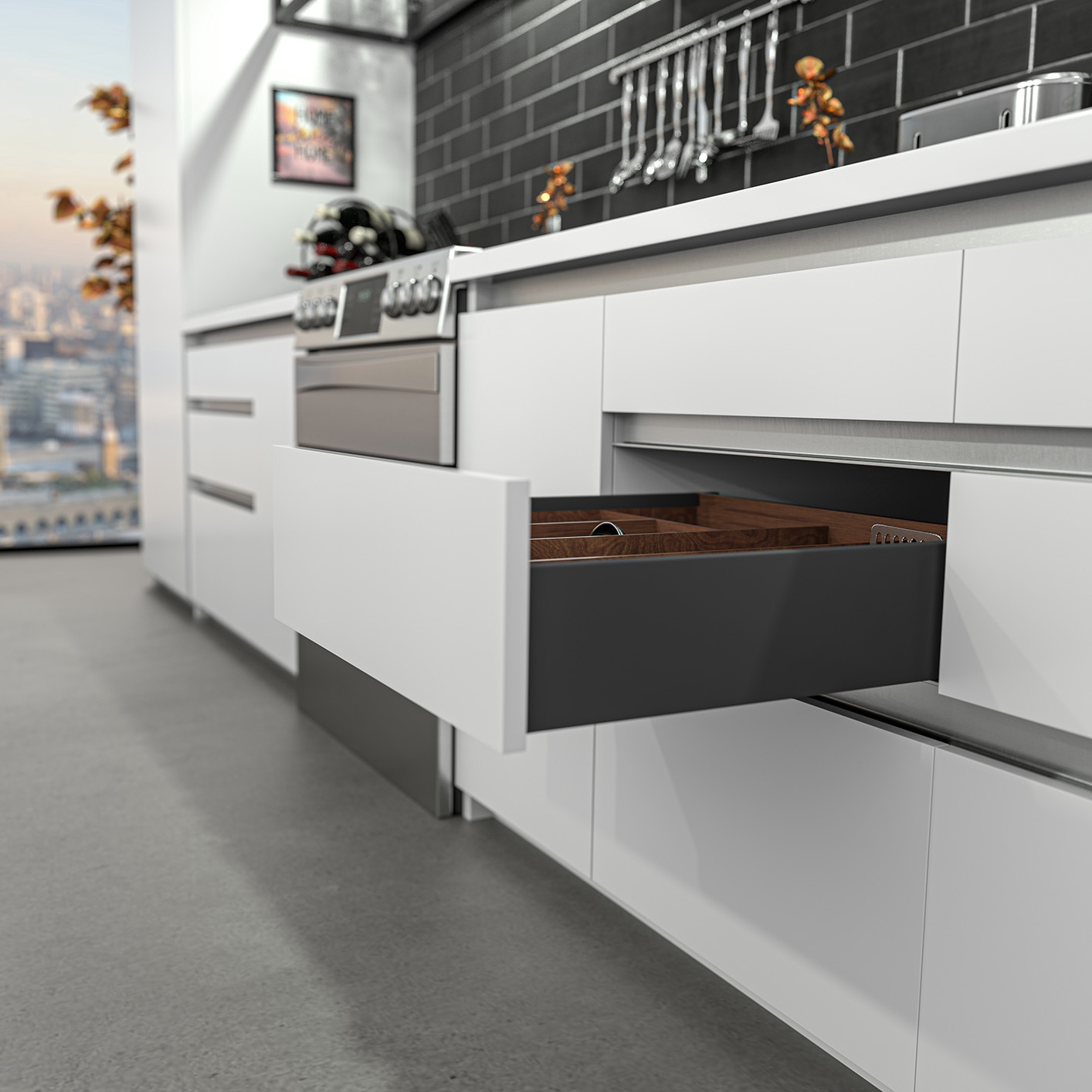 Legacy Endura Standard Drawer, 126mm Side Height