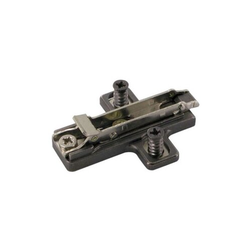 Salice # BARGR, Titanium Domi Snap-On Cross-Shaped, Dual Cam Adjust, Mounting Plates, Euro Screws