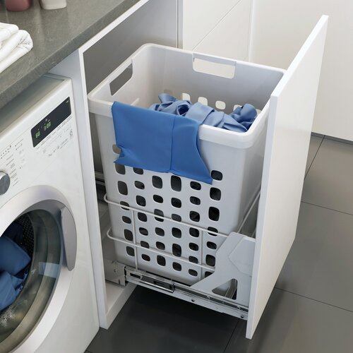 Bottom-Mount Laundry Hamper