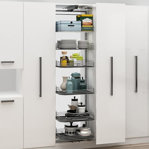Lateral Open Pantry - with Reversible Two-Colour Bottoms