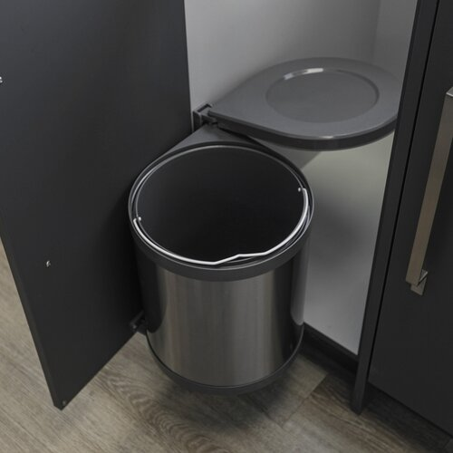 Round Stainless Steel Wastebin