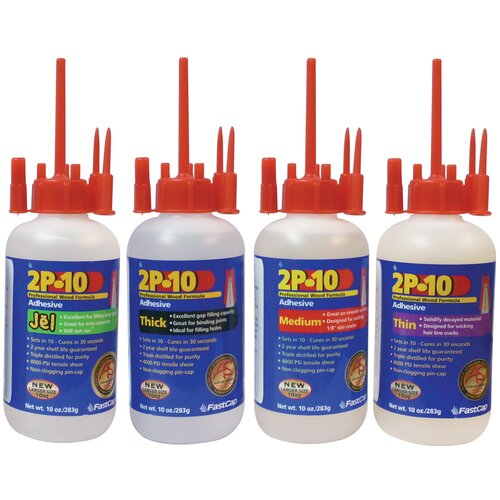 2P-10 Adhesive 10oz Bottle with Flexible Neck